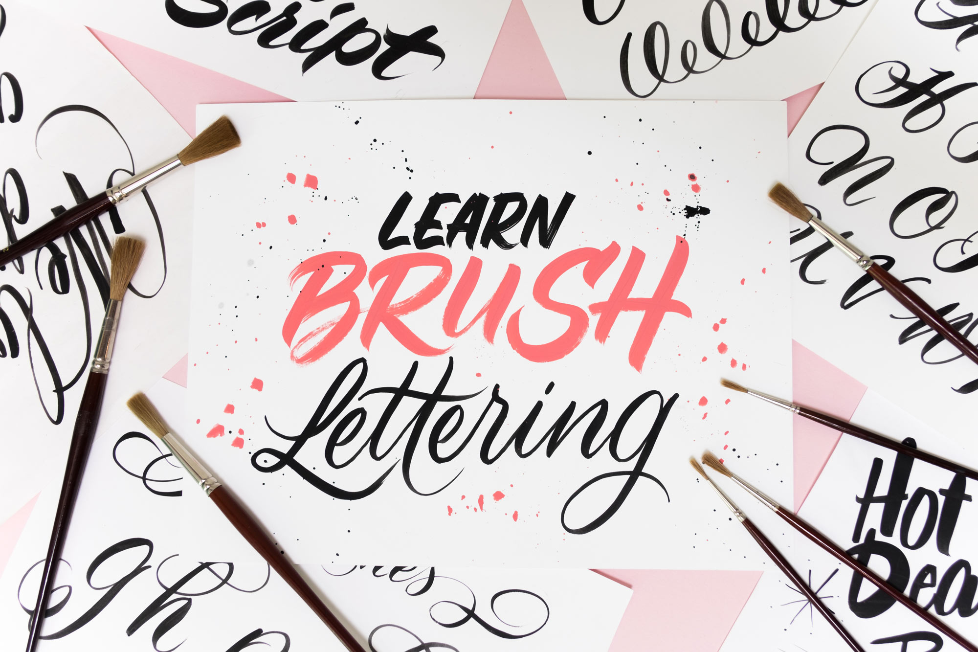 Learnbrushlettering on Worksheets Online